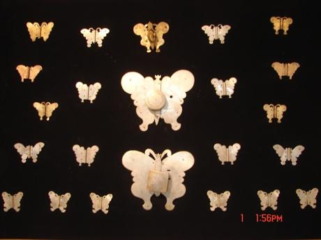 전통 장석문양 나비